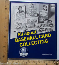 All About Baseball Sport Cards Collecting Booklet