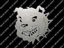 Bulldog Head - English Metal Art Wall Sign Military Mancave Bull Dog Silhouette
