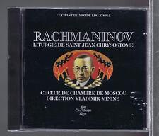 RACHMANINOV CD (NEW) LITURGIE DE ST JEAN CHRISOSTOME VLADIMIR MINININE