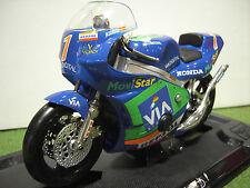 MOTO HONDA RS 125 ALZAMORA #1 Bleu ( Repsol )1/10 GUILOY 13626 moto miniature