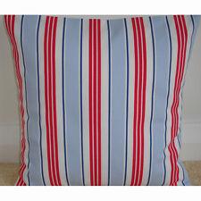 "20"" Cushion Cover Red White Blue and Navy Nautical Deckchair Striped Maritime"