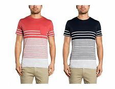 Mossimo Men's Linwood Tail Cotton Crew T-Shirt Desert Red or Black RRP $49.95