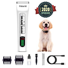 Dog Cat Pet Grooming Kit Rechargeable Cordless Electric Hair Dog Clipper Trimmer