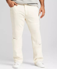 Men's Big & Tall Straight Fit Jeans - Goodfellow & Co Off-White 46x34