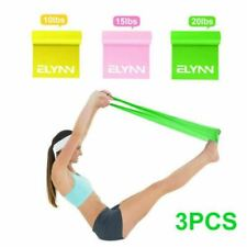Resistance Loop Yoga Bands Set Strength Fitness Gym For Physical Therapy PK3