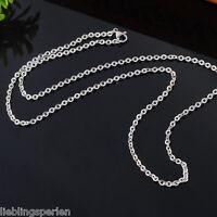 5 Herren Damen Silberkette Edelstahl Ankerkette Halskette Collier 51cm L/P