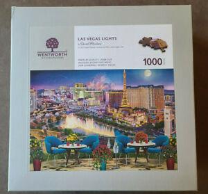 Genuine Wentworth Wooden Jigsaw Puzzle - Las Vegas Nights 1000 Piece