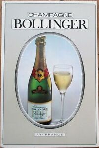 Champagne Bollinger 1969 French Advertising Sign - Ay, France