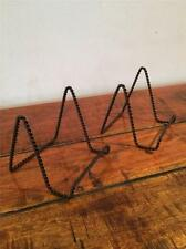2 x BLACK IRON WIRE EASELS DISPLAY CANVAS PICTURE ARTWORK PHOTO STAND ROPE AA-02