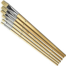 6 Paint BRUSH SET for Oil Watercolor Acrylic ART CRAFT ARTIST PAINTING - BS025
