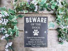 Divertente Fare Attenzione Degli Cani Slate Cancello Porta Placca Firmare