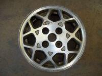 """1986 86 1987 87 1988 88 Mitsubishi Galant Alloy Wheel Rim 15"""" OEM 65647 USED"""