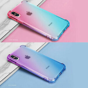 Rainbow Gradient Clear Phone Case Cover For Apple iPhone 11 Pro XR XS Max 8 7 6S