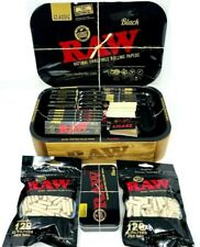 More details for raw wooden cache box set with tray and magnetic cover - black version