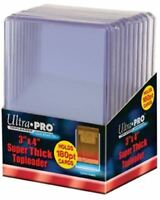 3x4 Super Thick 180PT Top Loaders 180pt Standard Size Sleeves Ultra Pro #82328