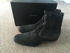 Paul Smith Boots Grey Dip Dyed Suede Timur Zip Boots