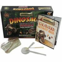 Enfants Dig & Découvre Dinosaure Jurrasic Fossil Fouille Jeu Set R03-0049