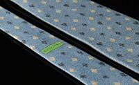 Bvlgari Mens Seven Fold Pizzigoni Tie Size 59X4 Ice Blue Silk Poker Suits Italy
