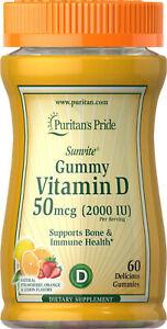 Puritan's Pride Sunvite Vitamin D3 2000 IU  Gummies x 60