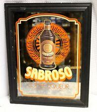 Sabroso Coffee Liqueur Mirrored Bar sign