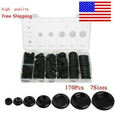 170 Rubber Grommet Firewall Hole Plug Electrical Wiring Gasket Assortment Kit