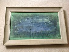 Vintage Framed Painting, Of School Of Whales, On Board, Signed!
