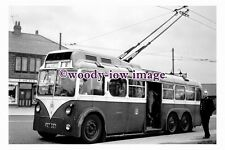 gw0100 - Rotherham Trolleybus no 8 at Wickersley in 1961 - photograph