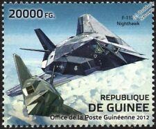 USAF LOCKHEED F-117 NIGHTHAWK STEALTH Jet Aircraft Stamp (2012 Guinea)