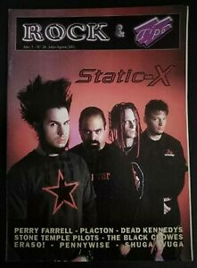 ROCK & TIPO REVISTA Nº 24 AGOSTO 2001 STATIC X  BLACK CROWES DEAD KENNEDYS