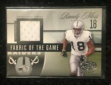 2006 Leaf Certified Materials RANDY MOSS Fabric of The Game Game Worn Jersey