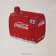 Coke Coca Cola Vendo V59 Machine Soda High Quality Metal Fridge Magnet 4x4 9885