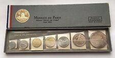 1965 MONNAIE DE PARIS FLEUR DE COINS FRANCE FRANCS 7 COIN SET W/BOX