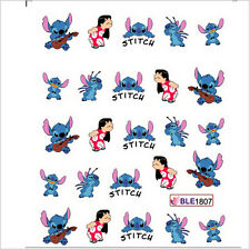 Nail Art Water Decals Stickers Transfers Lilo & Stitch Disney Gel Polish (1807)