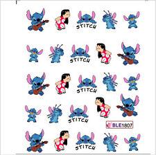 Arte Unghie Acqua Adesivi Decalcomanie Trasferimenti Lilo & Stitch Disney