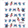 Nail Art Water Decals Stickers Transfers Lilo & Stitch Disney Gel Polish (1807)