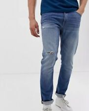 Tiger of Sweden Jeans tapered fit ripped jeans in light wash RRP£149 {Z34}