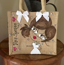 Personalised Wedding Bride Hen Jute Bag 22cm x 22cm