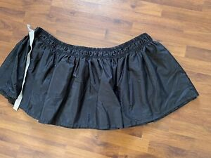 """Cannon Black Bedskirt Dust Ruffle Adjustable Twin To Full 15"""" Drop"""