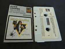 ALICE COOPER WELCOME TO MY NIGHTMARE RARE CASSETTE TAPE!