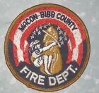 "Macon-Bibb County Fire Dept Patch - Georgia - vintage - 3 3/4"" x 3 7/8"""