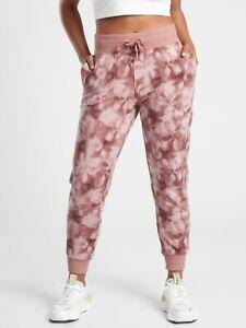 ATHLETA Balance Printed Jogger S Small | Serene Hearth Rose Pants NEW