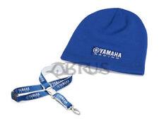 Genuine Yamaha Paddock Blue Beanie & Race Lanyard Accessories
