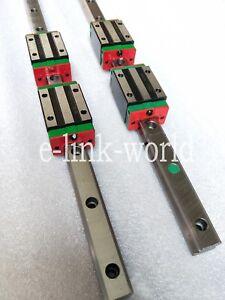 2 set HGR25-750mm Hiwin-Linear Rail & 4 pcs HGH25CA Block Bearing
