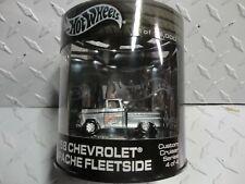 Hot Wheels Oil Can Silver '58 Apache Fleetside Pickup w/Real Riders