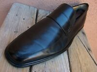 BALLY Mens Casual Dress Shoes Soft Black Leather Slip On Italian Loafer Size 10E