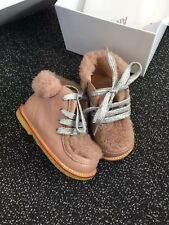 Angulus Girls Baby leather Boots in NUDE color, size EU 21 UK 4.5