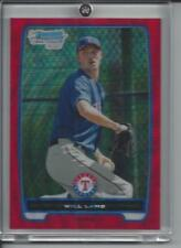 Will Lamb 2012 Bowman Chrome RED WAVE Refractor /25 #BCP114 SP