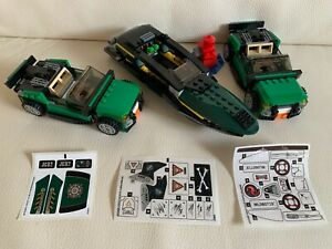 LEGO Marvel SUPERHEROES 2 X FURY CAR (76004) 1 X BOAT (76006) 3 SETS OF STICKERS