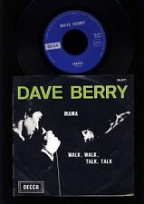 Dave Berry - Mama - Walk, Walk, Talk, Talk - 7 Inch Vinyl Single - BELGIUM