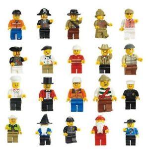 Lot of 20Pcs Random New Figures Men People Minifigs Assemble Toys Baby surprise
